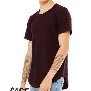 Bella Canvas Mens Jersey Tee With Curved Hem